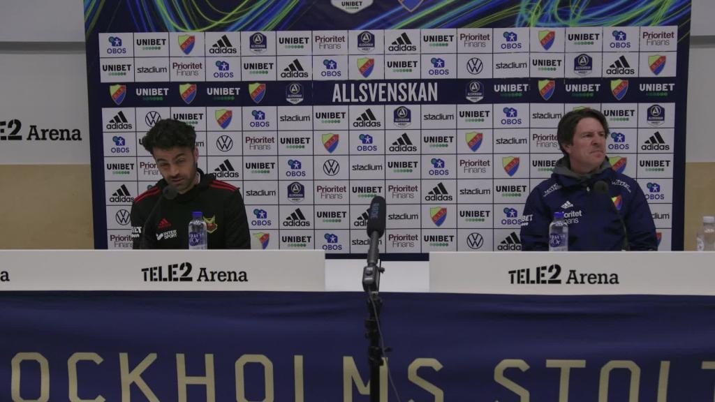 Presskonferensen efter Djurgården - Östersund