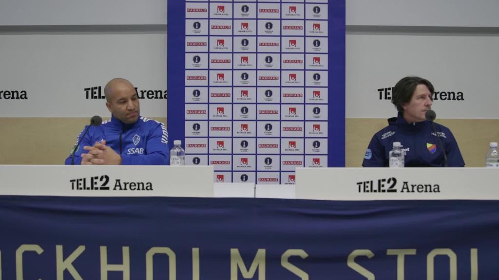 Presskonferensen efter Djurgården - Brage