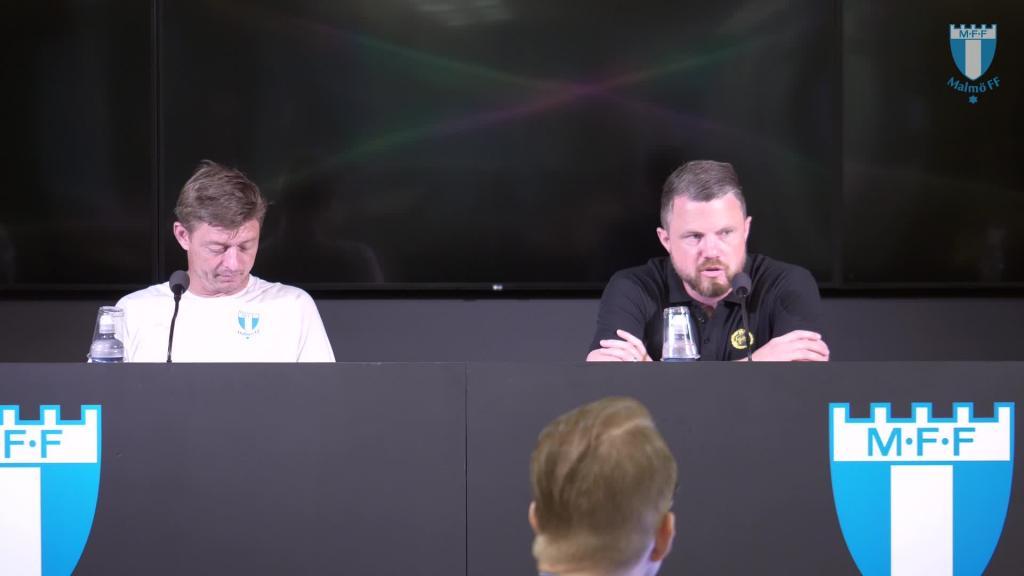 Presskonferens efter träningsmatchen mot IF Elfsborg