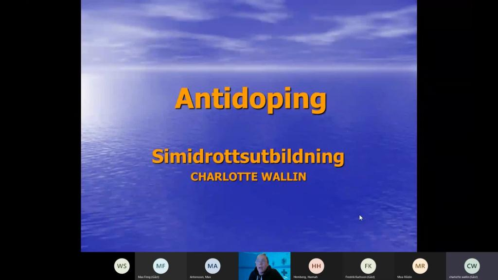 Antidoping -  Charlotte Wallin 2021-01-27