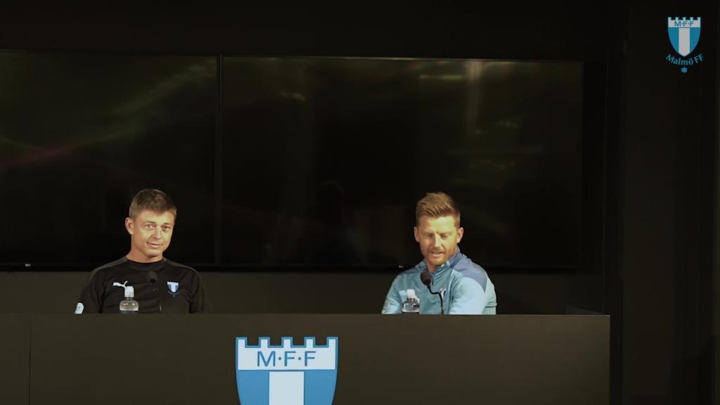 Presskonferens inför MFF – HJK Helsingfors