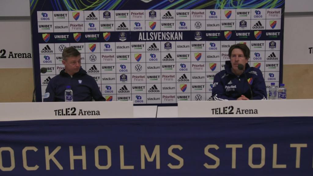 Presskonferensen efter Djurgården - Malmö FF
