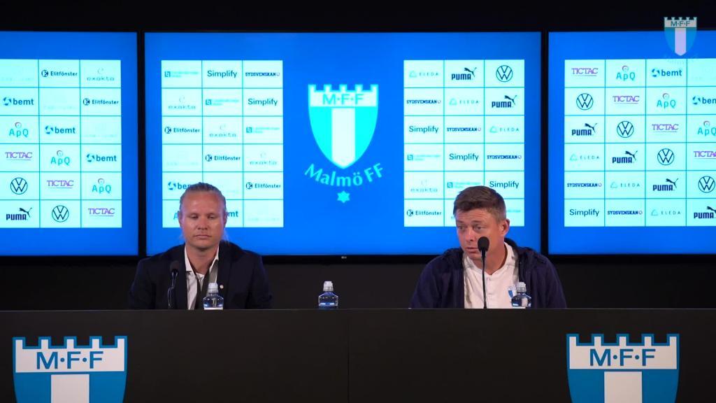 Presskonferens efter matchen mot HJK Helsingfors