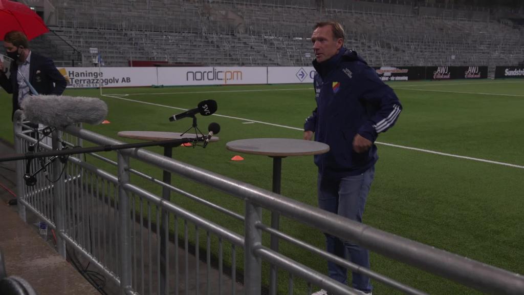 Presskonferens med Kim Bergstrand