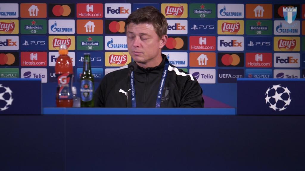 Presskonferens efter Juventus