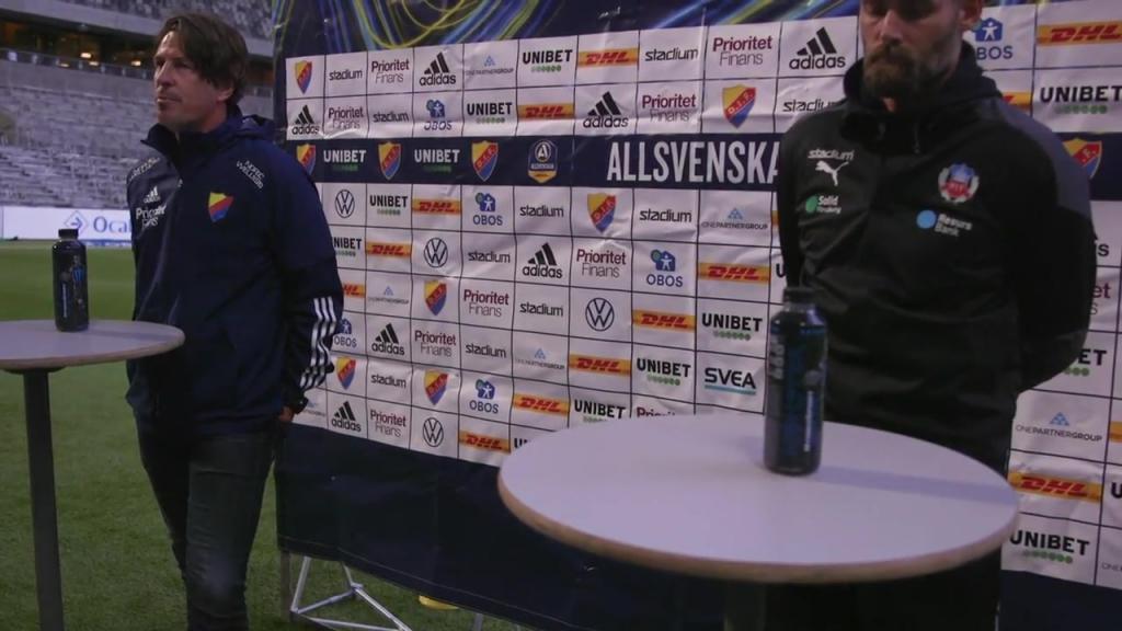Presskonferensen efter Helsingborg Djurgården