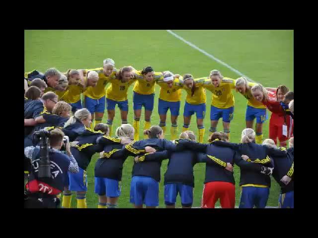 Dam-EM Fotboll Halmstad 21 juli 2013