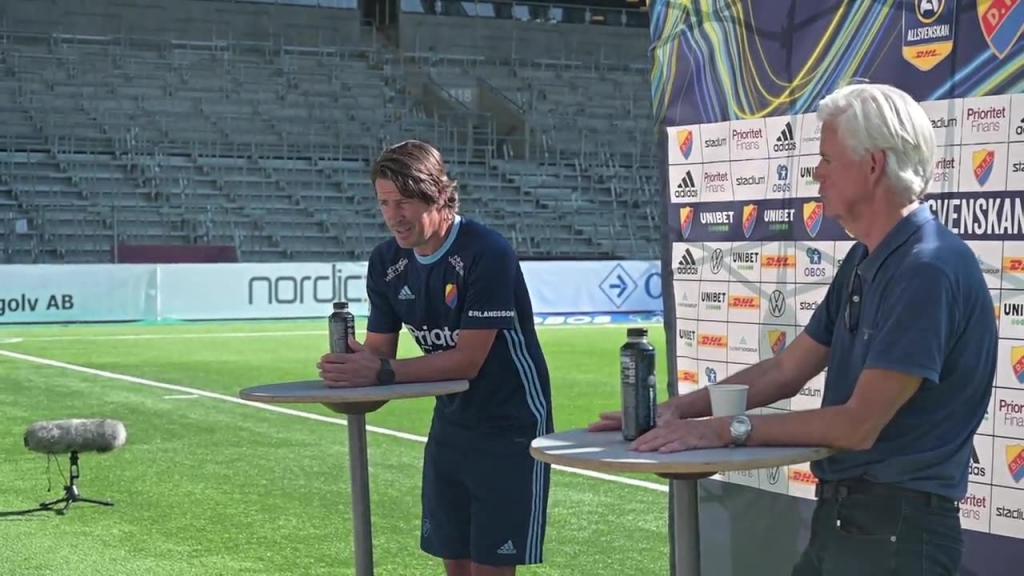 Presskonferensen efter segern mot Kalmar FF