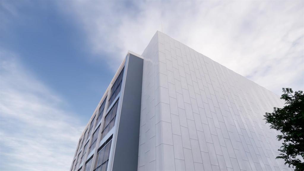 Marmorfasaden på lagtingsbyggnaden ska bytas ut till glaserad terrakotta