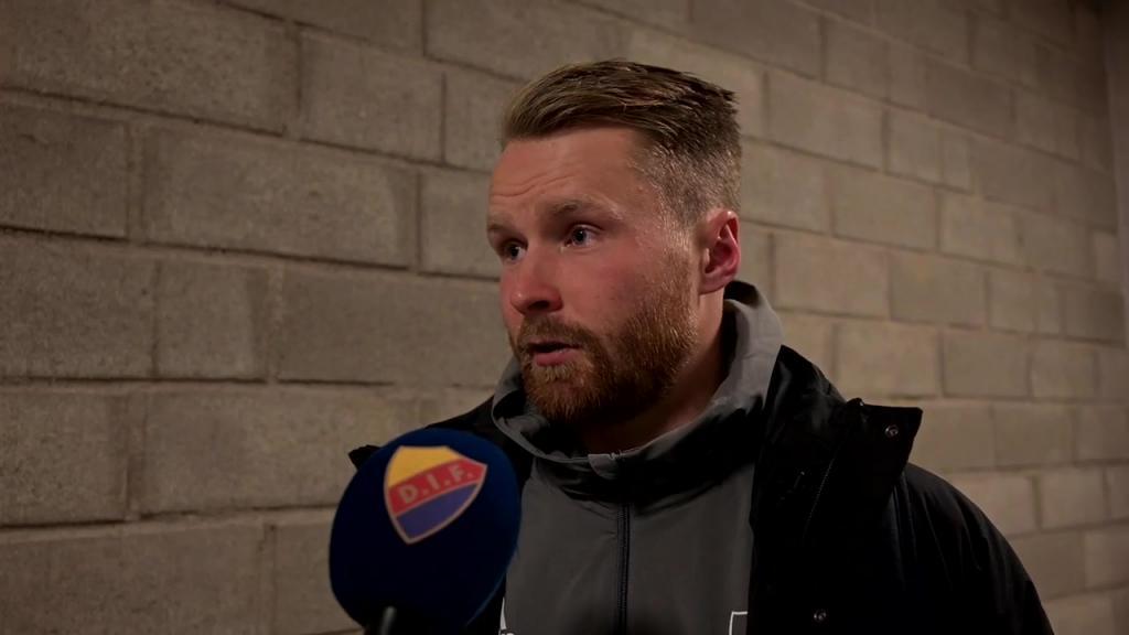 Kim Bergstrand och Jacob Une Larsson efter DIF - Elfsborg
