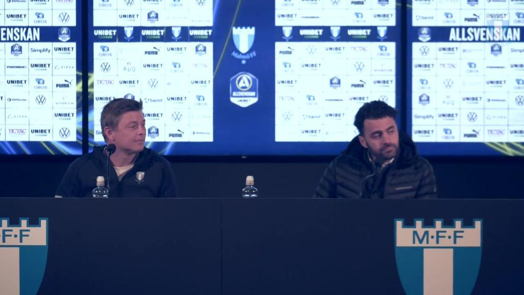 Presskonferens efter matchen mot Östersunds FK