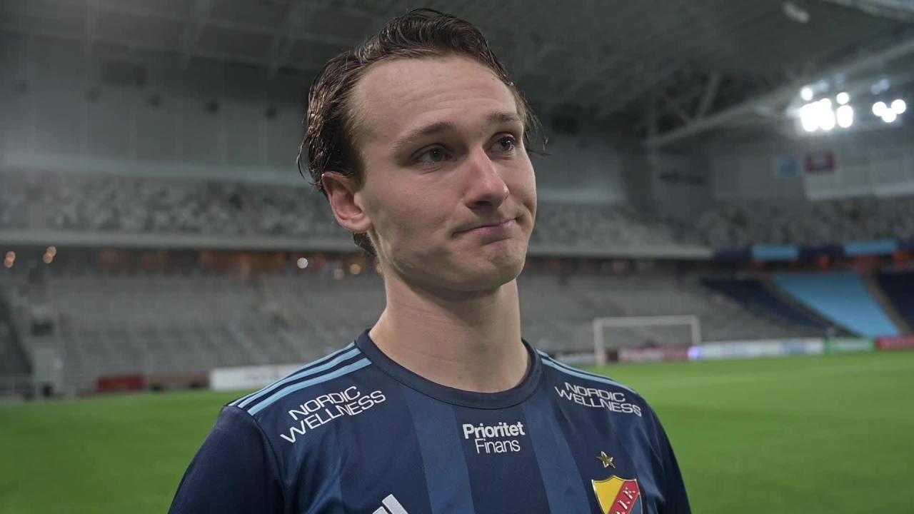 Hjalmar Ekdal och Kalle Holmberg efter cupsegern mot Kalmar