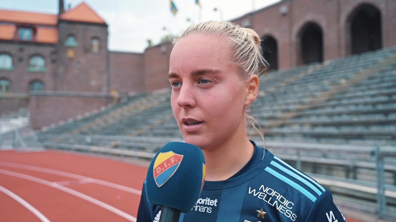 Fanny Lång efter matchen mot Vittsjö