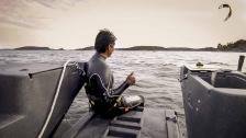 Kitesurfing i skärgården – från klippor och båt