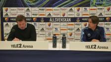Presskonferensen efter Djurgården IFK Norrköping