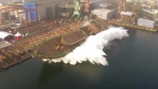 Polsk sjösättning av krigsfartyg