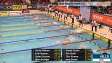 40 100m Ryggsim Herrar B-Final SM/JSM 25m 2015