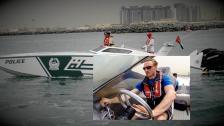 Miami vice på arabiska – vi kör världens snabbaste polisbåt