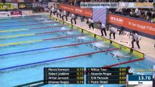 28 50m Bröstsim Herrar A-Final SM/JSM 25m 2015