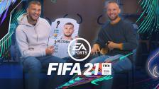 Karlström och Bärkroth reagerar på sina kort i FIFA 21
