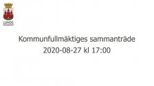 Kommunfullmäktiges sammanträde 2020-08-27