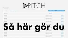 Instruktionsvideo för Vpitch verktyget.