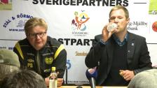Presskonferensen efter Mjällby-DIF 2012