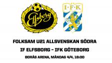 U21 Allsvenskan Södra: IF Elfsborg – IFK Göteborg