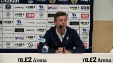 Presskonferens efter Hammarby-matchen