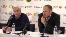 Presskonferensen efter cupkvartsfinalen