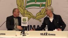Presskonferensen efter Bajens 1-1-mötet med Sundsvall