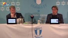 Presskonferensen efter Malmö FF -DIF
