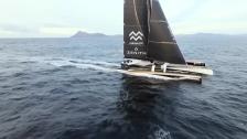 Spindrift 2 passerar Kap Horn under Jules Verne Trophy