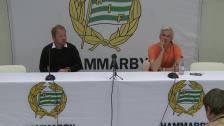 Presskonferensen efter Hammarby - Landskrona BoIS