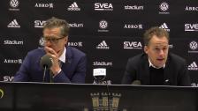 Se presskonferensen efter segern i Solna
