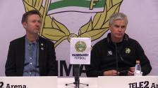 Presskonferensen efter cupsemifinalen