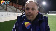 Hampus Nilsson och Anders Johansson efter 1-0 borta mot Gefle