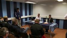 Presskonferensen efter DIF-IFK Norrköping 2011