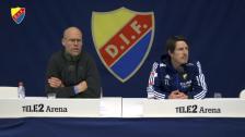 Presskonferensen efter hemmapremiären