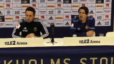 Presskonferensen efter segern mot Östersund