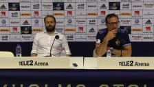 Presskonferensen efter segern mot Häcken
