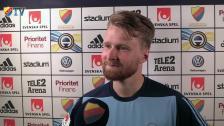 Jacob Une Larsson om matchen och hans bortdömda mål
