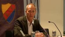 Presskonferensen efter DIF-AIK 2010