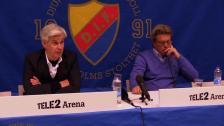 Presskonferensen efter Hammarbys seger över Djurgården