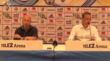 Presskonferensen efter DIF-MFF