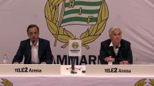 Presskonferensen efter 2-3-förlusten mot Malmö FF