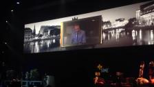 Viewer video displayed on the main stage