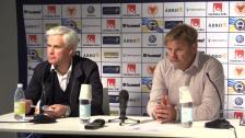 Presskonferensen efter 1-1-mötet med Kalmar FF
