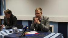 Presskonferensen efter DIF-Halmstad 2011