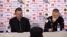 Presskonferensen efter förlusten mot Elfsborg